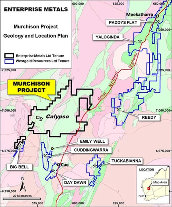 Figure 1. Murchison Project, Geology & Major Competitor Landholdings